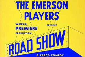 """Flier for the Emerson Players production of """"Dad Show: A Farce-Comedy."""""""